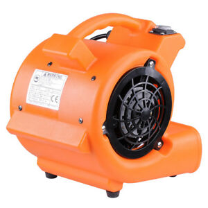 Commercial Industrial Air Mover Blower Carpet Dryer 349cfm 1400rpm Floor Drying