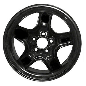 03796 New Replacement 17 Black Steel Wheel For 2010 2012 Fusion Mercury Milan