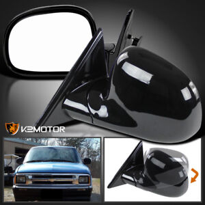 94 98 Chevy S10 Blazer Gmc Jimmy Sonoma Black Side Mirrors Manual Left Right