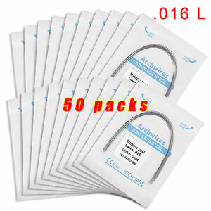 50 Packs Dental Orthodontic Stainless Steel Arch Wires Round 16l Bgb
