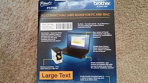New Brother P touch Pc Connectable Label Maker pt p700