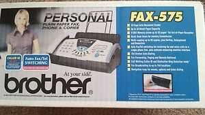 Brand New Brother Fax 575 Personal Fax Phone And Copier