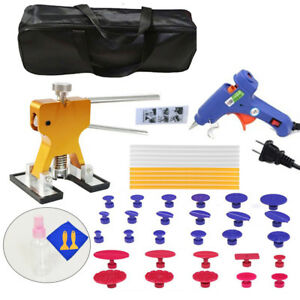 Pdr Car Body Paintless Dent Repair Removal Glue Gun Tool Puller Lifter Diy Kit