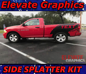 For Dodge Ram 1500 Side Splatter Stripes Graphics 3m Decals Vinyl Stickers 09 18