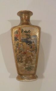Signed 19th C Japanese Satsuma Miniature Vase Meiji Period 2