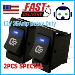 2pcs 12v 35amp Heavy Duty Toggle Flick Switch On off Car Dash Light Metal Spst