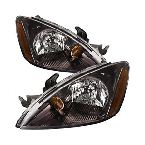 Headlights Pair Left Right Set Fits 2004 2007 Mitsubishi Lancer 4door