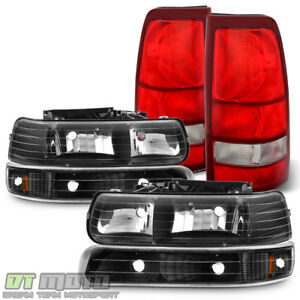 1999 2002 Chevy Silverado 1500 2500 3500 Blk Bumper Lamps Headlights tail Lights