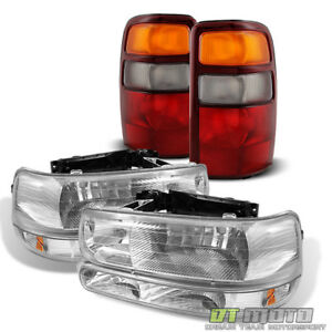 For 2000 2003 Chevy Suburban 1500 2500 Tahoe Headlights Bumper Lights Tail Lamps