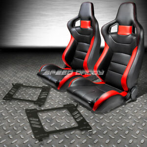 Pvc Leather High head Red Racing Seats bracket For 05 14 Ford Mustang gt S 197