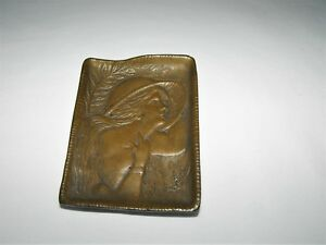 Art Nouveau Tray Bronze Hat Pin Hair Pin Tray Ca1895 1905