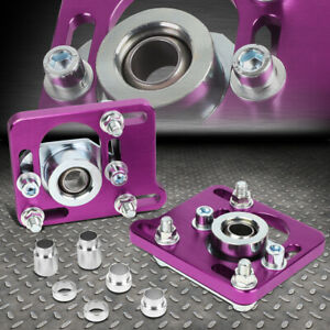 For 94 04 Ford Mustang 2 5 Adjustable Alignment Camber Caster Plates Purple