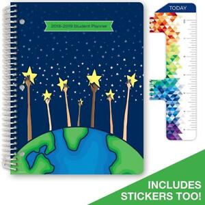 Dated Elementary Student Planner For Academic Year 2018 2019 matrix Style