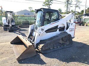 2012 Bobcat T770 Skid Steer Enclosed Cab Joystick Controls High Flow Key
