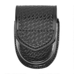 Aker A500d bw v Compact Round Double Handcuff Case Black Basketweave