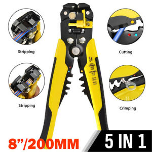 Automatic Wire Stripper Crimper Pliers Cable Stripping Crimping Hand Tool