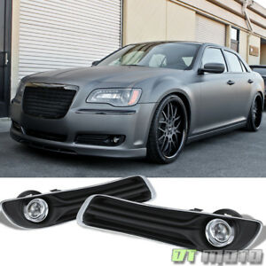 Replacement 2011 2014 Chrysler 300 Bumper Fog Lights Driving Lamps Complete Kit