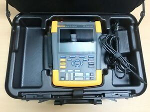 Fluke 190 502 Scopemeter 2ch 500mhz 5gs s With Probes Lead Set And Usb Cable