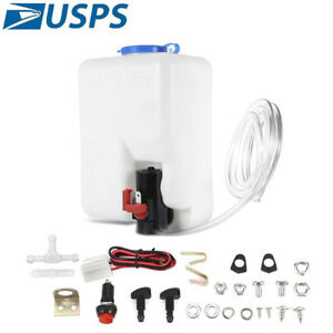 Universal Windshield Washer Pump Reservoir Kit 99300 Fluid Reservoir Tank Bottle