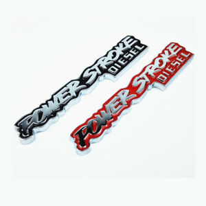 Metal Power Stroke Diesel Emblem Rear Trunk Turbo Badge Sticker Car Side Decal