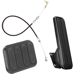 Lokar Midnight Series Xl Throttle Brake Pedal Kit With Cable