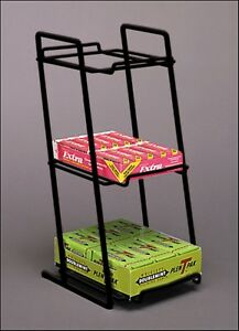 10 Counter Gum Candy Snack Display Rack 3 Tier Boxed Good black
