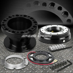 Black 6 Hole Steering Wheel Hub Adaptor Quick Release For Miata Mx5 Rx7 Rx8 626