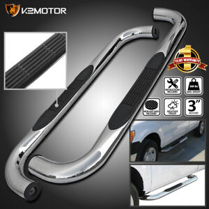 For 88 98 Chevy Gmc C k Regular Cab 2dr Chrome Running Boards Side Step Bars