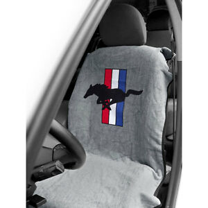 Mustang Seat Armour Seat Cover Gray With Pony Logo Cj Pony Parts