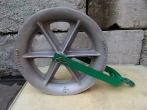 Greenlee 8024 8000 Lbs 24 Inch Sheave For Tugger Puller Nice Shape 4