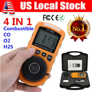 4 In 1 Lcd Gas Detector Co O2 H2s Oxygen Lel Gas Monitor Testing Analyzer Meter