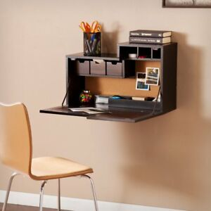 Southern Enterprises Dover Wall Mount Desk Black