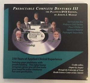 Joe Massad Predictable Complete Dentures Iii The Platinum Dvd Video Dental 5hrce