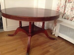 Round Dining Table W Extension