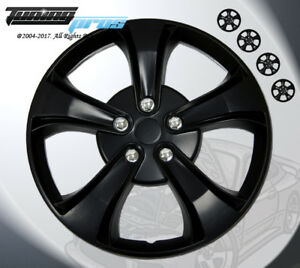 Matte Black Style 616 14 Inches Hubcap Wheel Cover Rim Skin Covers 14 Inch 4pcs