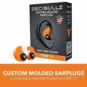 Decibullz Custom Molded Earplugs 31db Highest Nrr Comfortable Hearing Protection
