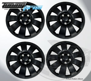 17 Inch Snap On Matte Black Hubcap Wheel Cover Rim Covers 4pc 17 Inches 721