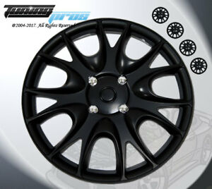 Wheel Rims Skin Cover 15 Inch Matte Black Hubcap Style 533 15 Inches Qty 4pcs