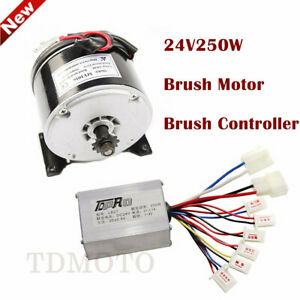Dc 24v 250w Brushed Gear Motor Speed Controller Electric Dirt Bike E scooter Atv