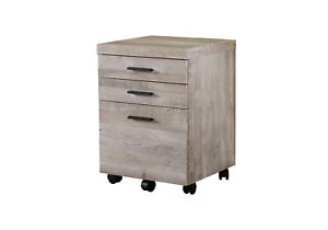 Monarch Specialties I 740 17 3 4 Wide Wood 3 Drawer Filing Cabinet With Casters