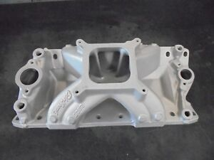 Fully Ported Sbc Chevy Edelbrock Super Victor Intake Manifold 2925