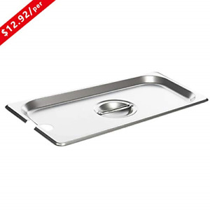 Full Size Stainless Steel Slotted Steam Table Pan Cover Kitma 1 1 Size Pan Lid