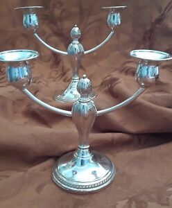 Sterling Silver Weighted Candelabras