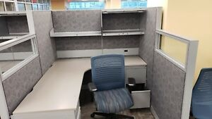 Used Office Cubicles Global Evolved 5 5x6 Cubicles