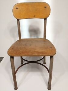 Vintage 27 Childs Chair Norcor Wood Youth School Desk Library Rustic Decor