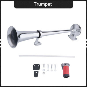 Super Loud 150db Trumpet Kit With Compressor Car Boat Train Truck Air Horn 12v