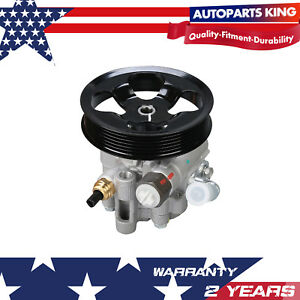 Power Steering Pump W Pulley For Pontiac Vibe Toyota Corolla Matrix 03 08 Dohc