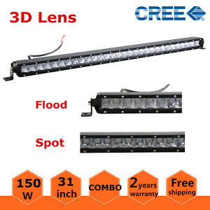 4d 31 inch 150w Slim Single Row Cree Led Light Bar Car Atv Suv Rzr 4wd 30 32