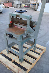 Manual Challenge Lever Paper Cutter Model H 3610 244 5798 Guillotine On Stand