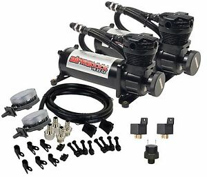 Black Air Compressors With Air Intake Filter Relocator Airmaxxx 480 180psi Kit